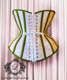 A gallery of our custom and standard work. Corset Costumes, Underbust Corset, Green Satin, Waist Training, Couture, Bespoke, Toronto, Projects To Try, Daily Wear