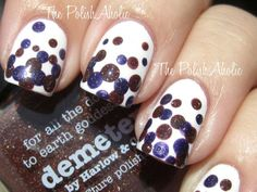 To recreate this spotted mani, Jen of The Polish Aholic suggests using bobby pins or toothpicks to make dots of different sizes, or picking up a set of little dotting tools at the beauty supply store.  Filed Under:DIY, nails