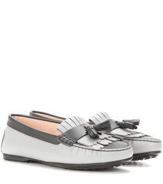 mytheresa.com - Frangia leather loafers - Luxury Fashion for Women / Designer clothing, shoes, bags