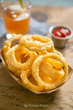 Paleo Onion Rings - oh my, imagine fried in Beef Tallow!