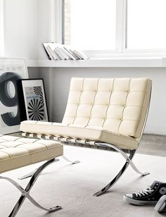 Barcelona® Chair - Design Within Reach Eames Rocking Chair, Rocking Chair Nursery, Mission Chair, Modern Furniture, Furniture Design, Cheap Wall Decor, Accent Chairs For Living Room, Cool Chairs, Awesome Chairs