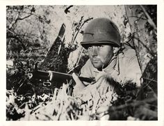 1943- U.S. Marine in training as a Marine Raider at Camp Pendleton in California.
