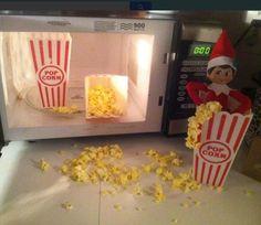 Elf on the shelf - popcorn!