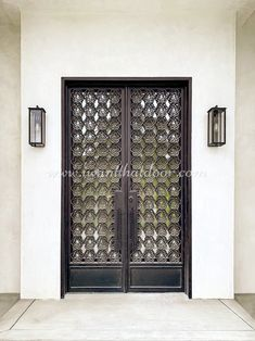 Have you always imagined having more elegant and stylish iron doors for your house? 💡 About this design: Rosalia Double Entry Iron Door ☎️️ 877-205-9418 🌐 www.iwantthatdoor.com Wrought Iron Doors, Elegant, Stylish, House, Design, Home Decor, Classy, Decoration Home, Wrought Iron Gates