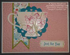 ~ ~ ~Jayne Stamps ~ ~ ~ Tea Shoppe card