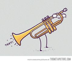 Toot! To all the trumpet players from my hs days... That is what you all sounded like just so you know... Save like 2...