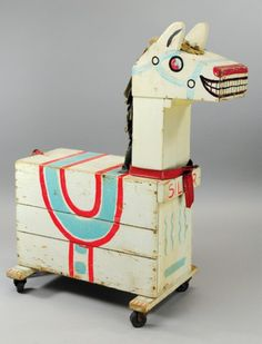 Hi ho silver! 50's wooden horse - I didn't ever see one of these but it would be fun to make one today