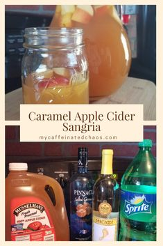 Caramel Apple Cider Sangria Recipe Caramel Apple Cider Sangria Recipe Caramel Apple Cider Sangria<br> In a world full of pumpkin spice lattes, be a glass of Caramel Apple Cider Sangria. This is the perfect sangria recipe for your next fall occasion! Caramel Apple Sangria, Apple Cider Sangria, Cider Cocktails, Caramel Apples, Apple Cider Wine Recipe, Spiked Apple Cider, Homemade Apple Cider, Spiced Cider, Album Design