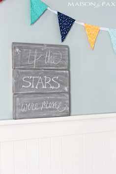 You'll love this adorable DIY planked chalkboard tutorial. The best part is that you can make it any color you want—not just black! Use it to leave encouraging notes for your loved ones.