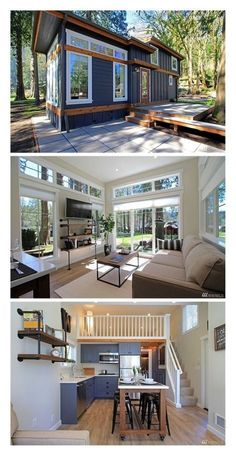 Cabins And Cottages: Cabins And Cottages: THE SALISH LUXE TINY HOUSE BY. You are in the right place about iranian Garden Planning Here we offer you the most beautiful pictures about the botanical Ga Tiny House Cabin, Tiny House Living, Small House Plans, Tiny Home Floor Plans, Tiny Guest House, Tiny Beach House, Building A Tiny House, Modern Tiny House, How To Build House