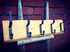 Hand forged coat hooks. #forged #blacksmith #handmade