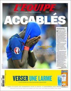 Buena portada (atención a la publicidad) de @lequipe ( ... - http://www.vistoenlosperiodicos.com/buena-portada-atencion-a-la-publicidad-de-lequipe/