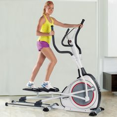KETTLER ELYX 1 Elliptical Cross Trainer. Blue back-lit LCD computer display with push/turn controls. Distance, time, speed, RPM, energy consumption, and heart rate. 8 programs with adjustable intensity levels. Heart rate control programs maintain target rate. Quick-start feature; simply begin pedaling.