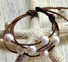 Pearl & Leather Jewelry