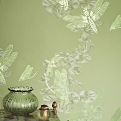 Dragonfly Apple Green Wallpaper available to buy online. Dragonfly Apple Green wallpaper by Barneby Gates at best price. Free UK delivery on orders over Dragonfly Wallpaper, Unique Wallpaper, Green Wallpaper, Wall Wallpaper, Dragonfly Art, Beach Wallpaper, Beautiful Wallpaper, Animal Wallpaper, Stunning Wallpapers