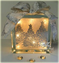 A glass block gift idea!