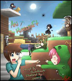 Minecraft Anime by Minecraft Ships, Minecraft Comics, Minecraft Drawings, Minecraft Pictures, Minecraft Fan Art, Minecraft Crafts, Me Anime, Anime Art, Anime Girls