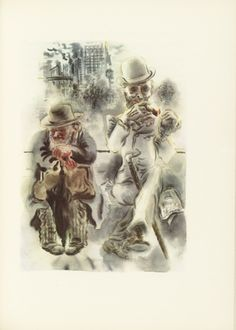 George Grosz (American, born Germany. 1893–1959) Untitled (plate facing page 62) from The Voice and the City and Other Stories