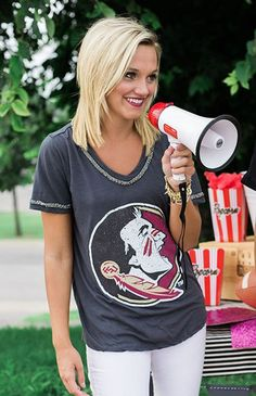 FSU Seminole Game Day Licensed Tee - Bows and Arrows how can it get any better? We even have fine women.