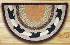 Earth Rugs Cabin Bear Braided Slice Area Rugs Are Great In Your Home For That Country Feeling!!!! ON SALE NOW!!!!