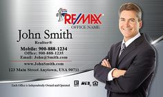 Popular Remax agent business card template with Silver Stainless background - design #101391