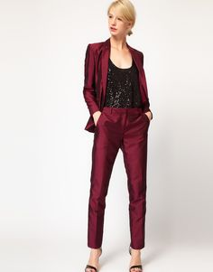 Metallic suit - I am dreaming of this with my teal Furla bag ... gorgeous!
