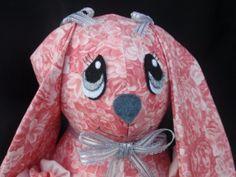 Peachy pink roses/floral print 14 stuffed yo yo by SursyShop, $30.00