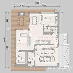 Grande mise en page- Super Aufteilung Grande mise Affordable House Plans, Duplex Plans, Two Storey House, Architecture Plan, Architect Design, Home Projects, Building A House, Diy Home Decor, Floor Plans