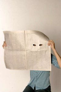 Image result for holes in newspaper