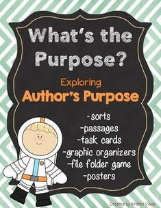 Author's Purpose: Students are sure to have fun with these hands-on, meaningful activities while gaining a solid understanding of this concept.This differentiated unit provides a variety of engaging materials; look what's included! Powerpoint Free, Powerpoint Lesson, Sorting Activities, Hands On Activities, Comprehension Strategies, Reading Comprehension, Third Grade Reading, Common Core Reading, Authors Purpose