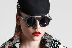 91a85ad1e Hi Tek Designs London ALEXANDER - SUNGLASSES Black Round Sunglasses, Cat  Eye Sunglasses, Specs