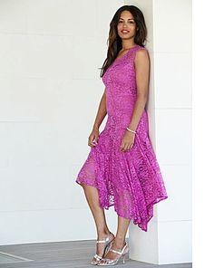 """Joanna Hope"" Joanna Hope Hankerchief Hem Lace Dress at Marisota Plus Size Dresses, My Wardrobe, New Look, Lace Dress, Bodycon Dress, Stylish, Stuff To Buy, Women, Fashion"