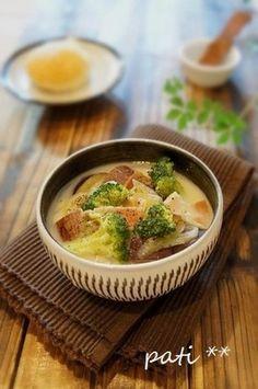 お芋のこっくりミルク味噌スープ