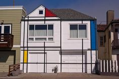 The Mondrian House: Outer Sunset (Great Highway between Rivera and Quintara Streets) #SF