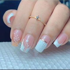 French Manicure Nail Designs, Acrylic Nail Designs, Manicure And Pedicure, Nail Art Designs, Bling Acrylic Nails, Gel Nails, Pretty Nail Art, Luxury Nails, Short Nail Designs