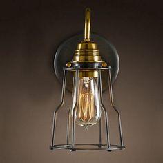 特价北欧宜家复古乡村工业风过道镜前梳装台床头小铁架壁灯