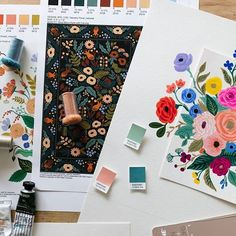 Here's a little glimpse of the process while we were developing our rug and pillow collection with @loloirugs. See the finished products at rifle.co/loloi #riflepapercohome #riflepapercoxloloi