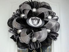 Oakland Raiders Deco Mesh Wreath by Dudlebugs on Etsy, $35.00