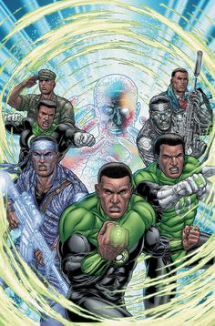 """superheroesincolor: """"Green Lantern, John Stewart """"Formerly an architect, social activist, and U. Marine sniper, John Stewart was selected by the Guardians of the Universe to be one of the Green. John Stewart Green Lantern, Female Superheroes And Villains, Green Lantern Sinestro, Green Lantern Corps, Green Lanterns, Guardians Of The Universe, Black Comics, Black Characters, Movie Characters"""
