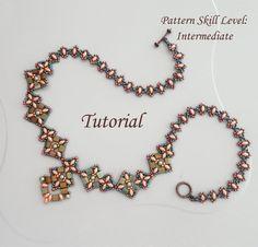 PIPISTRELLO superduo and tila beaded necklace beading tutorial