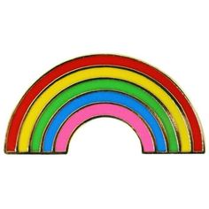 Rainbow Lapel Pin (€18) ❤ liked on Polyvore featuring jewelry, brooches, rainbow jewelry, pin jewelry and pin brooch