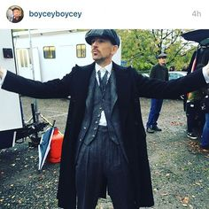 Paul Anderson on the set of Peaky Blinders Season 3!!!! #bbctwo #stevenknight #peakyblinders