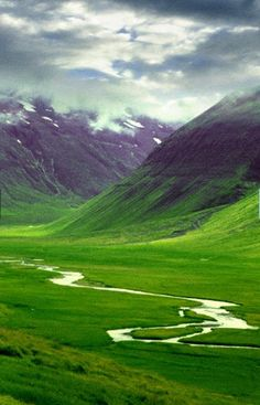 Iceland--it really is that green.