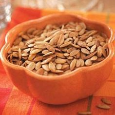 Here is an awesome recipe!! Share with your friends! Garlic Pumpkin Seeds Recipe Prep/Total Time: 25 min. Yield: 8 Servings