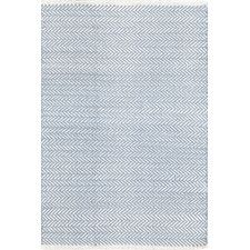 Herringbone Swedish Blue Woven Rug