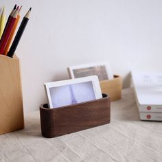 Fancy - Wood Card Holder