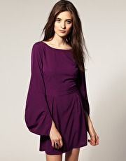 Vero Mode Envelope Sleeve Waisted Dress - in love with the sleeves