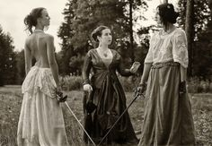 Emancipated duels. Photo by Pavel Kurmilev  Baroness Lubinska who presided over the famous duel between Princess Pauline Metternich and the Countess Kielmannsegg in 1892, insisted that the duelists remove their clothing above their waists to avoid infection in the event that a sword pushed clothing into the wound it caused. Being a doctor, the baroness had seen many instances of septic infection in soldiers for this very reason throughout her years of medical training.