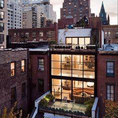 Future House, Home Nyc, New York Studio, Loft Studio, City Aesthetic, Dream Apartment, Interior Exterior, House Goals, Architecture Design