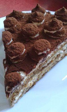 Tiramisu torta - SÜTÉS NÉLKÜL Croatian Recipes, Hungarian Recipes, Chocolate Wine, Cake Factory, Sweet And Salty, Cake Cookies, Bakery, Goodies, Food And Drink
